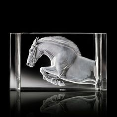 Steuben Crystal - The Steed. Designed by Joseph Piccillo. If only I had an extra $27,000 laying around...