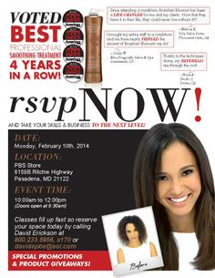It's Time - brush up and get certified on Brazlian Blowout. Call now to reserve a seat!