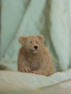 needle-felted bear