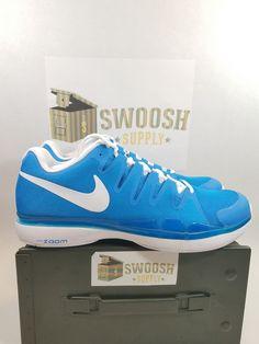 b0ca9f940e19 Nike Zoom Vapor 9.5 Tour Tennis Shoes sz 13 Men s 631458 404 LT Photo Blue  White