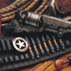 Badge an weapon of Texas Ranger
