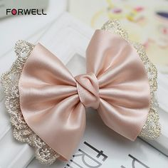 Cheap hair accessories, Buy Quality hair clip directly from China girls bows Suppliers: Forwell Girl women hairpin hair accessories beaded printed lace big bow hair clip headdress flower long ribbon barrettes Online Shop Girls Loves Bow Lace Hair Pins Wed Making Hair Bows, Diy Hair Bows, Diy Bow, Ribbon Hair, Bow Hair Clips, Ribbon Barrettes, Hairbows, Ribbon Bows, Broderie Bargello
