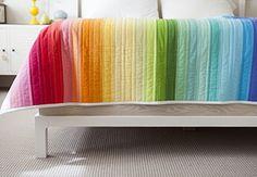 Rainbow Jellyroll Quilt Top with Heather Jones on Creativebug #quilting #rainbow