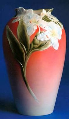 Franz Porcelain White Ginger Vase