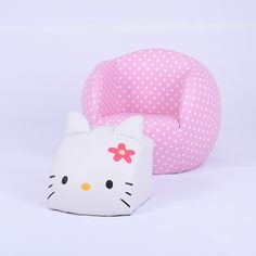 Contemporary Hello Kitty Cat Baby Furniture/Children Leather Ottoman Sofa/Kids Products (SXBB-24) - efull.com