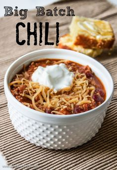 This is literally THE BEST CHILI I've ever had. Big Batch Chili www.the-taste-tes...Almost the same recipe from my Mom....Just a couple twists...Sounds yummy...