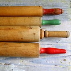 antique rolling pins! I love that I have one of my Grandmothers'....I know they rolled out some wonderful dumplins...