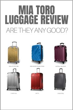 Mia Toro luggage is stylish, unique and made in Italy. Are they the right luggage for your next trip though? Find out in this review.  #luggage #suitcase #travelgear #miatoro Kids Luggage, Luggage Suitcase, Luggage Reviews, Travel Tote, Suitcases, Italy, Backpacks, Stylish, Unique