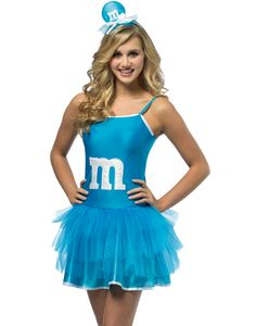 M&M'S Blue Party Dress Teen Costume comes with a headband and dress for a cute and unique Halloween costume that is sure to make you stand out from the crowd. Cure your candy craving with this charming and fun outfit! Cute Teen Costumes, Costumes For Teenage Girl, Halloween Costumes For Teens Girls, Halloween Costumes For Girls, Girl Costumes, Halloween Ideas, Halloween Customs, Girl Halloween, Halloween 2015