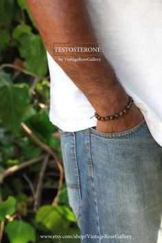 Mens Tigers Eye Bracelet, Tigers Eye Bracelet, Gemstones Bracelet by VintageRoseGallery Men's Jewellery, Jewelry, Tiger Eye Bracelet, Tigers Eye Gemstone, Fabric Tape, What Is Need, Gemstone Bracelets, Vintage Roses, As You Like