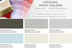 indoor paint colors We're sharing the paint colors from the May-June 2016 Ballard Designs catalog. Indoor Paint Colors, Blue Paint Colors, Paint Colors For Home, Wall Colors, Best White Paint, White Paints, Benjamin Moore Storm, Taupe Paint, Best Interior Paint