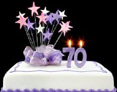 70th birthday decorations