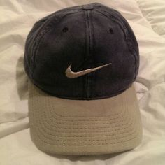 ce2fba698ac vintage Nike cap vintage grey and blue (denim like color) hat from nike Nike  Accessories Hats