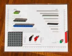 Using the Lego Ruler and Sorting guide to distinguish larger parts.
