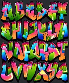 Graffiti Fonts you can use to make your own graffiti designs with. Graffiti Text, Graffiti Lettering Alphabet, Graffiti Alphabet Styles, Graffiti Wall Art, Graffiti Tagging, Graffiti Drawing, Graffiti Styles, Street Art Graffiti, Grafitti Letters
