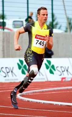 Oscar Pistorius was the first amputee runner on blades who competed in the Olympics, 2012.
