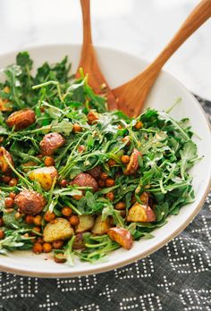 Roasted Potato And Paprika Chickpea Salad