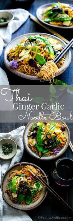 A gingery, garlicky stir fry loaded with blanched snow peas, fresh carrots… Vegan Recipes   Vegetarian Recipes   Healthy Recipes
