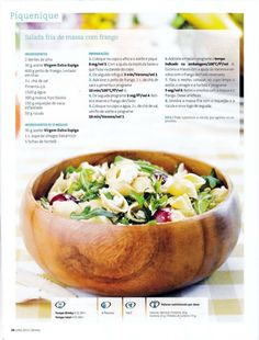 Revista bimby 2011.07 n08 Healthy Food, Yummy Food, Healthy Recipes, I Companion, Bento, Tables, Food And Drink, Low Carb, Diet