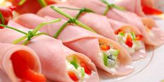 Finger Food, Fresh Rolls, Sushi, Prosciutto Cotto, Ethnic Recipes, Antipasto, 3, Diet, Tomato Paste