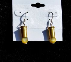 Golden Tiger Eye Bullet Earrings Bullet Earrings by blazingembers