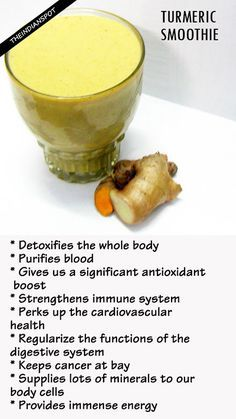 Turmeric is a wonderful kitchen ingredient that comes with tons of medicinal benefits. The turmeric smoothie I'm talking about is basically a 'superfood smoothie', which not only deep cleanses our internal system, but also improves our health in the following ways: Detoxifying Turmeric Smoothie Recipe Serving: 2 glasses (a) Ingredients: Thin coconut milk –