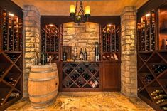 wine room ideas pictures | Love the rock and wood | Wine Room Project Ideas