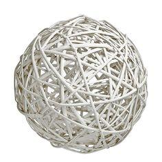 Μπάλα διακοσμητική επιδαπέδια ψάθινη λευκή. Ιδανική για διακόσμηση γάμου-βάπτισης.   Διάσταση: 30cm