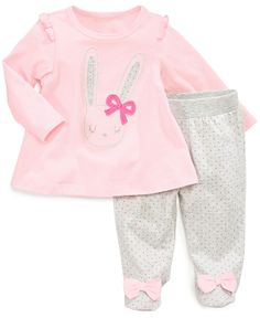 First Impressions Baby Girls' 2-Piece Shirt & Pants Set - Kids First Impressions - Macy's