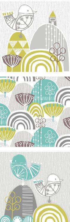wendy kendall designs – freelance surface pattern designer » bird graphic