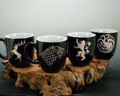 Game of Throne House Ceramic Coffee Mug Set of 4. Ugh. Mau. Pesen-bikin sendiri aja nyok??