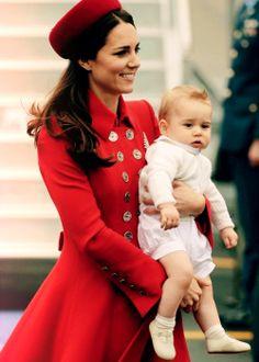 Kate and Prince George on OZ/NZ Royal Tour.
