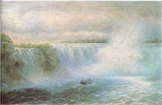 """""""The Niagara Waterfall,"""" Ivan Constantinovich Aivazovsky, 1894, oil on canvas, 13.39 x 20.87"""", private collection."""