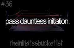 Initiates Bucket List ~Divergent~ ~Insurgent~ ~Allegiant~