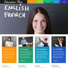 Education Plan web template and mobile website template for schools and education centres
