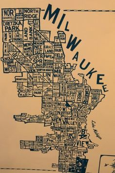 These colors are awesome. Like a really dark navy almost black, and a nice faded stained paper tan. Milwaukee Home, Milwaukee Wisconsin, Lake Michigan, Milwaukee Skyline, Earth City, History Of Photography, Great Lakes, Fun Prints, Travel Usa