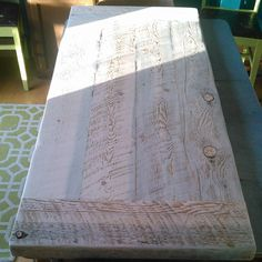 Rustic Table Top - unfinished or finished farmhouse style blue lodgepole pine plank table top