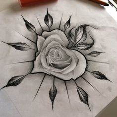 New Tattoo Flower Design Sketches Tatoo Ideas Rose Tattoos, Leg Tattoos, Flower Tattoos, Body Art Tattoos, Usmc Tattoos, Heart Flower Tattoo, Female Tattoos, Tattoo Girls, Tattoo Designs For Girls
