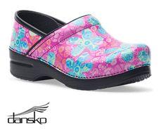 Dansko Professional Pop Floral Patent Leather Clog Style # DANSKPFL  #uniformadvantage #uascrubs #shoes #nursingshoes #floral