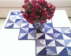 Winter Scrap Table Runner Quilt Pattern PDF by MapleCottageDesigns