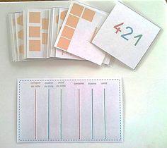 Ateliers Numération de type Montessori (fiches à imprimer)
