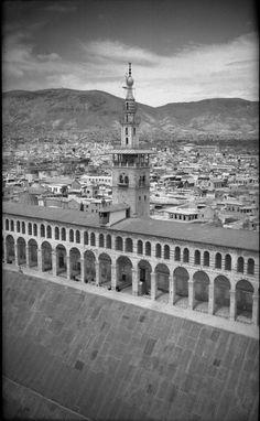 Arial photo Umayyad Mosque, Damascus