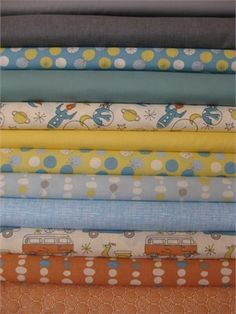 Fabricworm Custom Bundle, Lets Take Off in FAT QUARTERS 12 Total