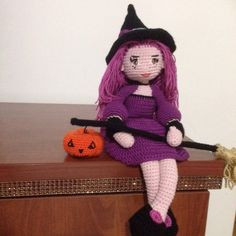 Amigurumi Cute Witch Samantha Doll Pattern for Halloween- PDF PATTERN