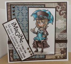 Image Stamp, Wonderland, Projects To Try, Paper Crafts, Create, Colouring, Stamping, Cards, Pictures