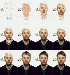 Thom Yorke portrait by IgorRAS on DeviantArt Digital Painting Tutorials, Art Tutorials, Painting Process, Painting & Drawing, Thom Yorke, Step By Step Watercolor, Sketches Tutorial, Art For Art Sake, Art Techniques