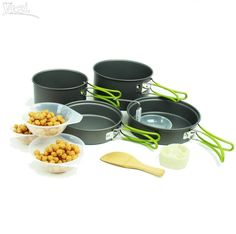 Outdoor Camping Hiking Backpacking Lightweight Aluminum Pot Pan Set for Picnic   Sporting Goods, Outdoor Sports, Camping & Hiking   eBay!