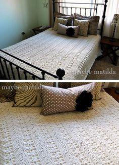Grandma's Lacy Ripple, from Rachel of Maybe Matilda. Free crochet pattern.