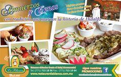 Publicidad para restuarante la Blanca en Pachuca Hidalgo.