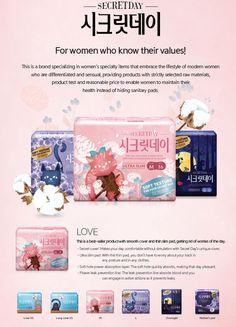 SECRET DAY Woman Sanitary Napkins, Pads from MCS INTERNATIONAL B2B marketplace portal & South Korea product wholesale. Keyword sanitary sanitary pad secretday